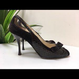 Dolce & Gabbana Croc & Suede Pump Size 38